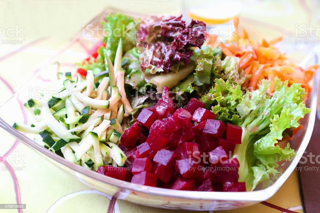 salad with vegetables stock photo