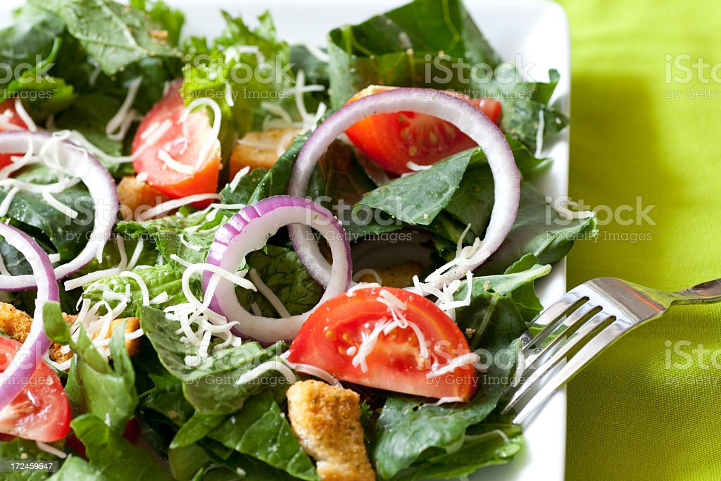 Salad with veggies royalty-free stock photo