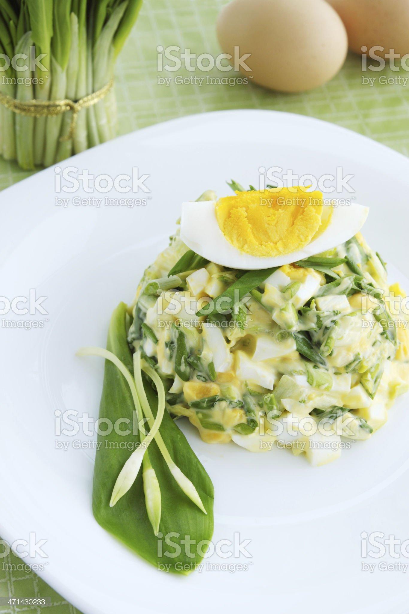 salad with wild garlic royalty-free stock photo