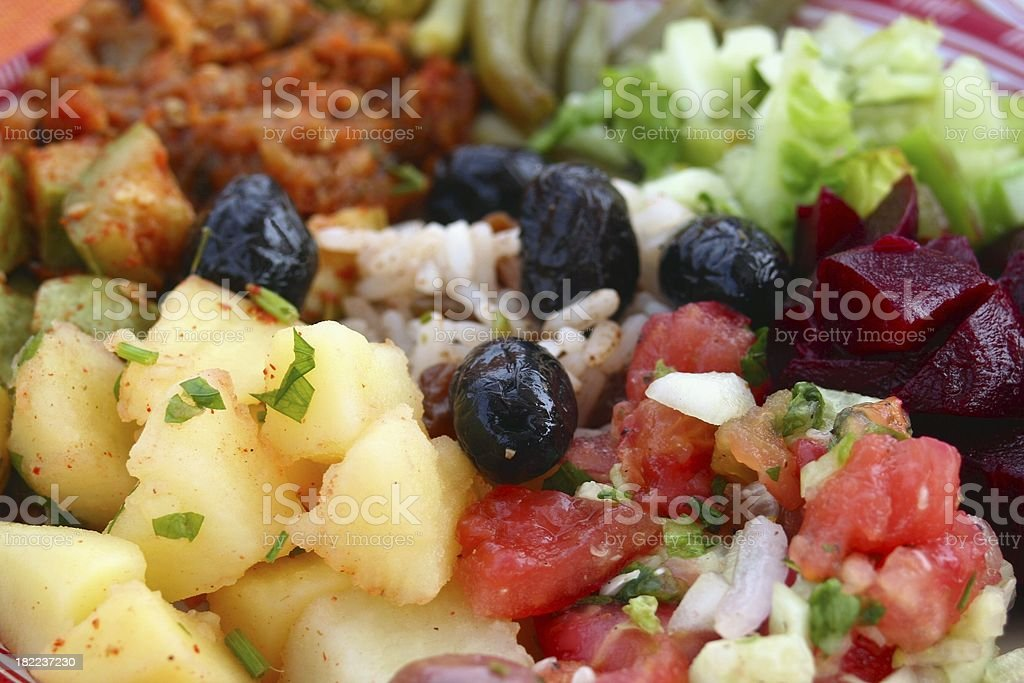 Salade close-up royalty-free stock photo