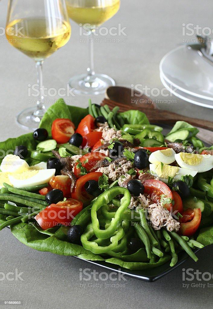 Salade Ni?oise royalty-free stock photo