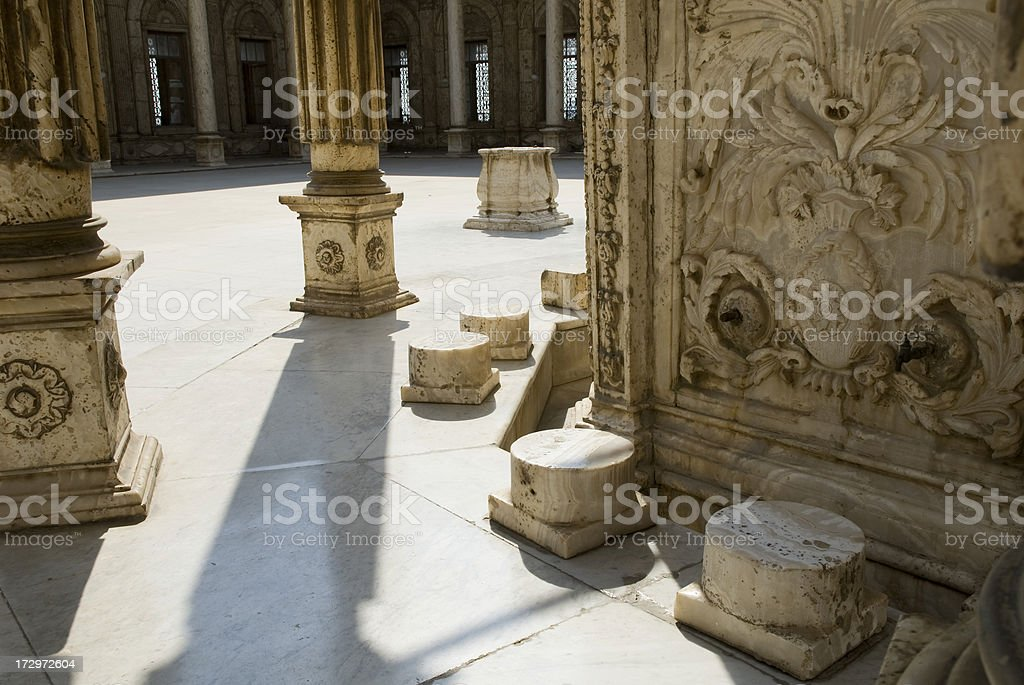 Saladin Citadel of Cairo, Egypt column and tap. stock photo
