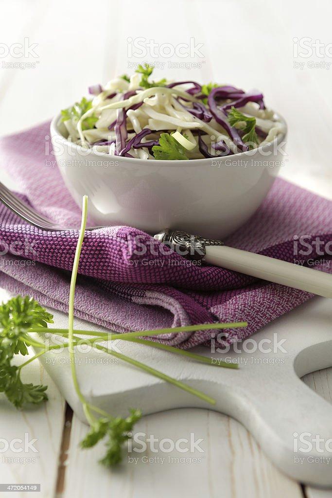 Salads: Coleslaw Still Life stock photo