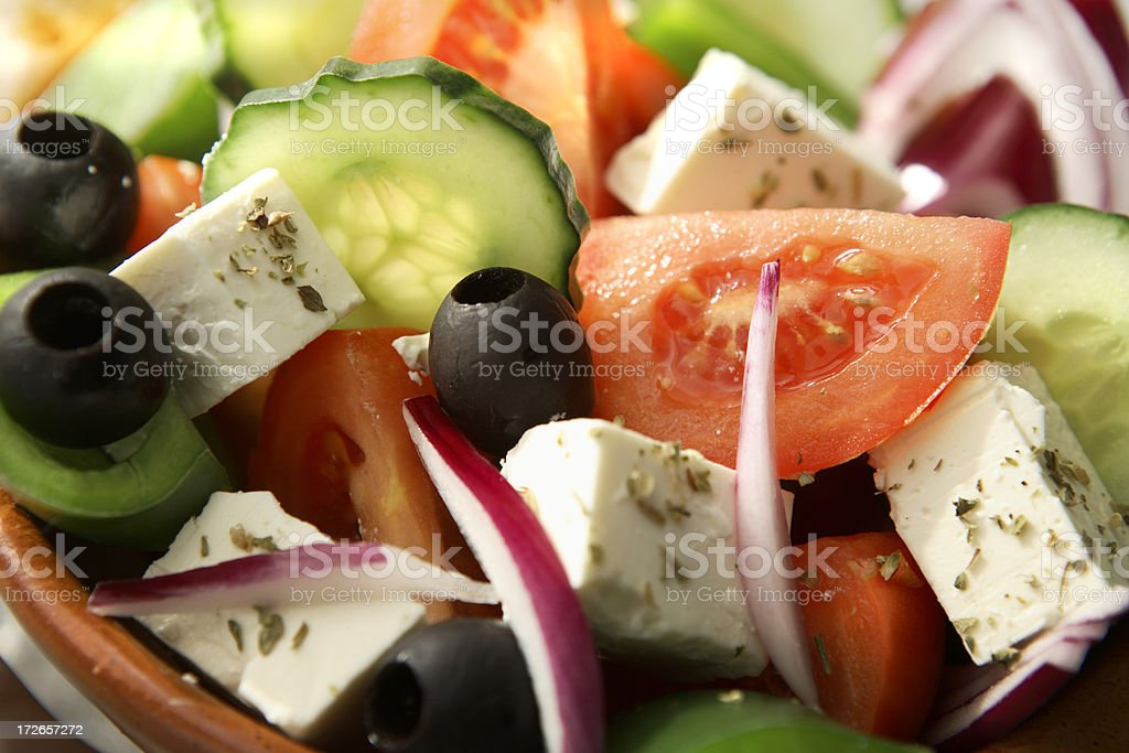 Salads: Greek Salad Still Life royalty-free stock photo