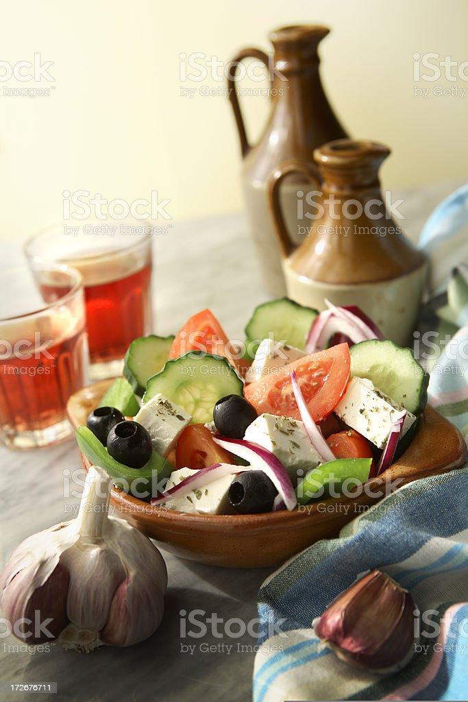 Salads: Greek Salad Still Life royalty-free stock photo