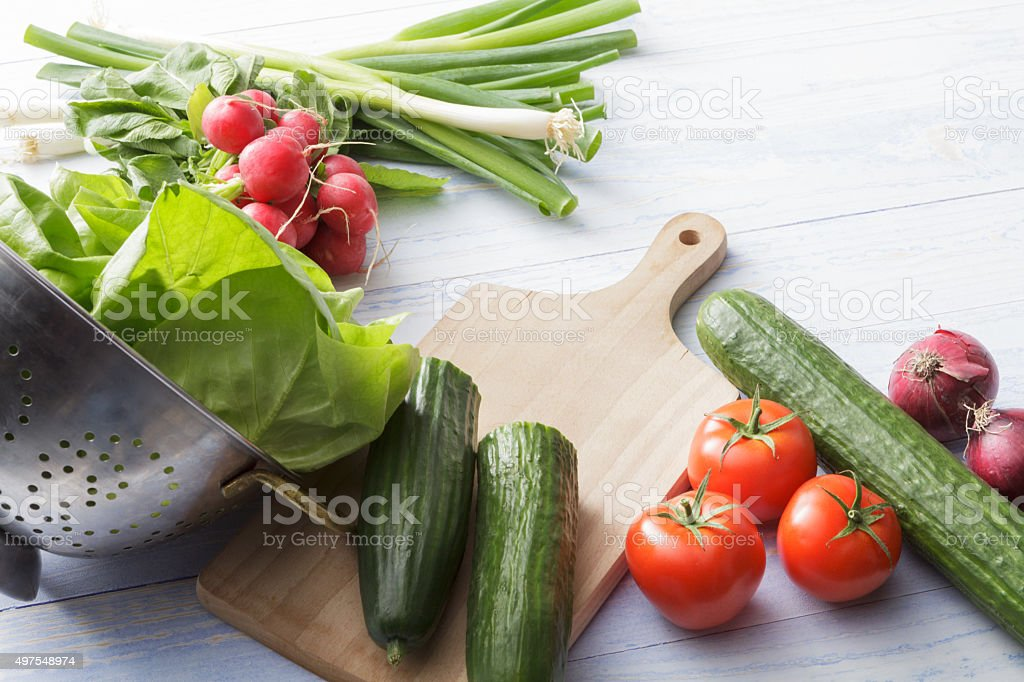 Salads: Ingredients stock photo