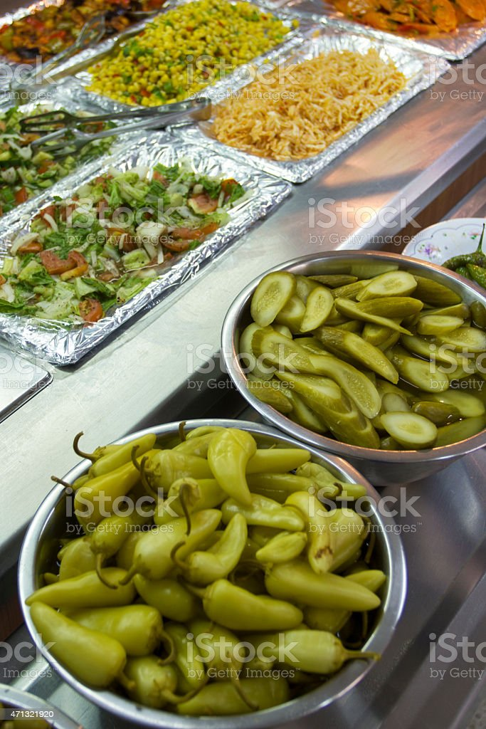 Salads - Middle East food stock photo