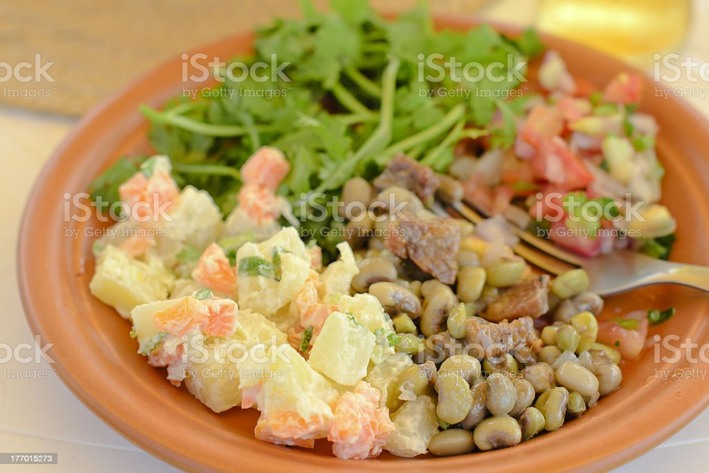 BBQ Salads stock photo