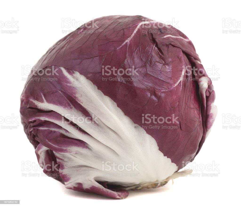 salads radicchio on white background royalty-free stock photo