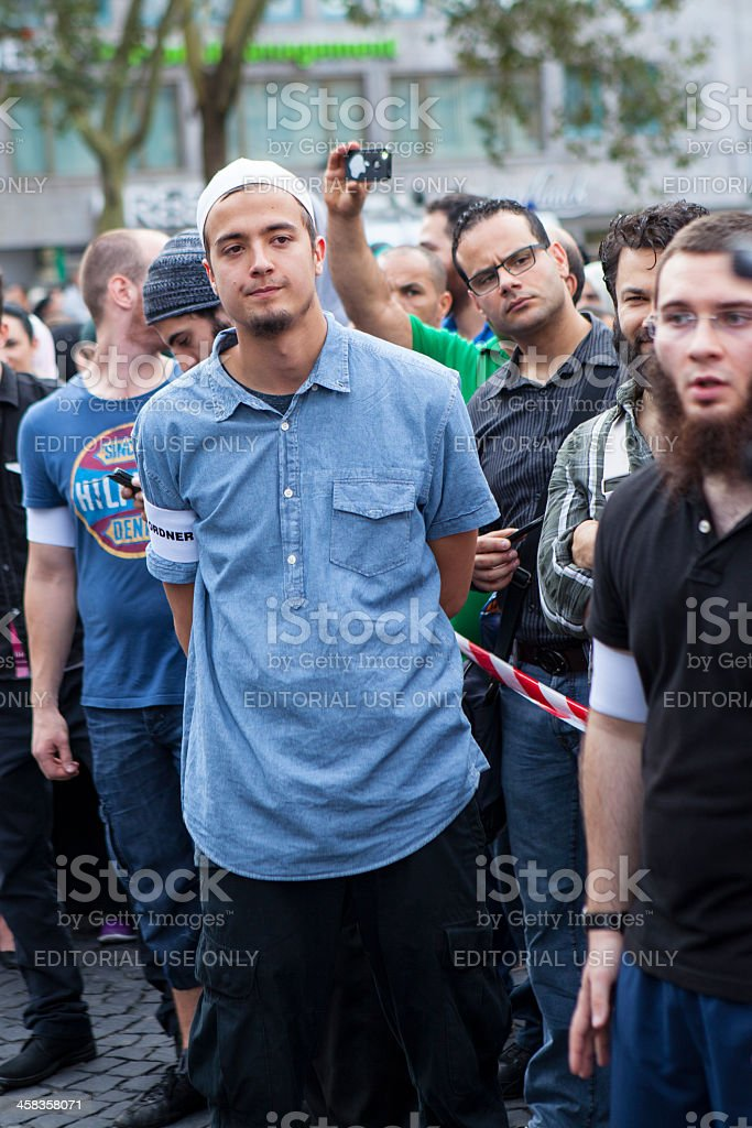 Salafist Islamischer Friedenskongress, Frankfurt royalty-free stock photo