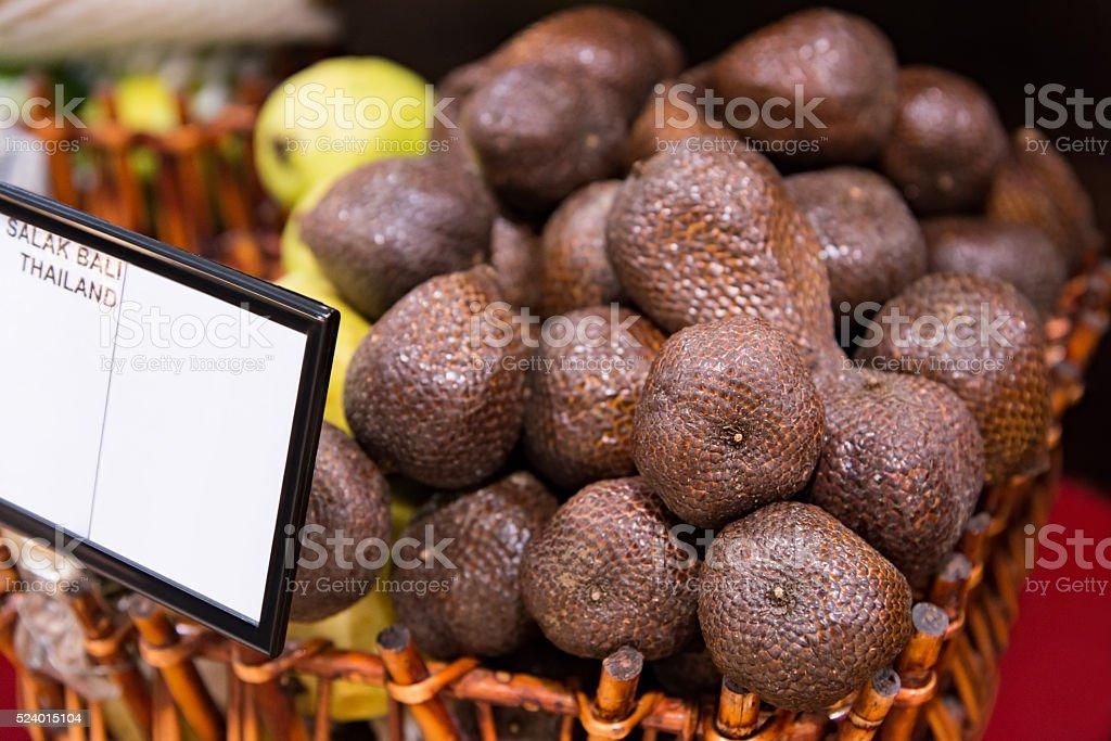 Salak bali fruit stock photo