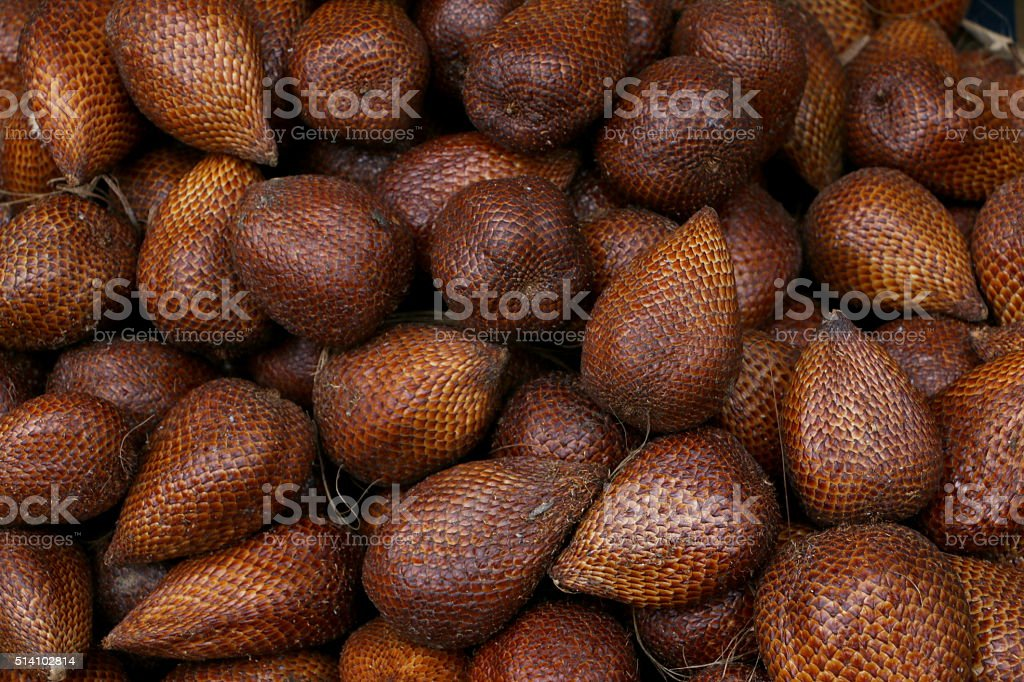 Buah Salak, Arecaceae stock photo