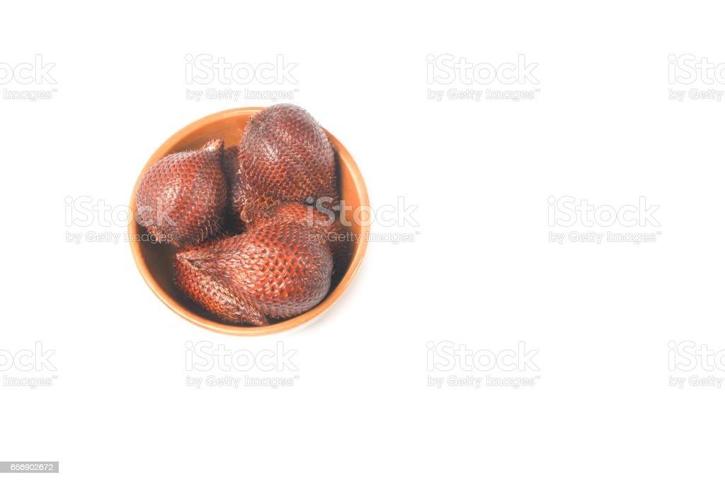 Salak fruit, Salacca zalacca on white background stock photo