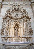 Salamanca - Baroque side altar of st. Francis of Asissi