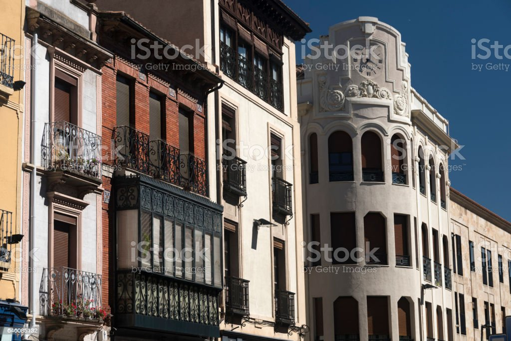 Salamanca (Spain): historic buildings stock photo