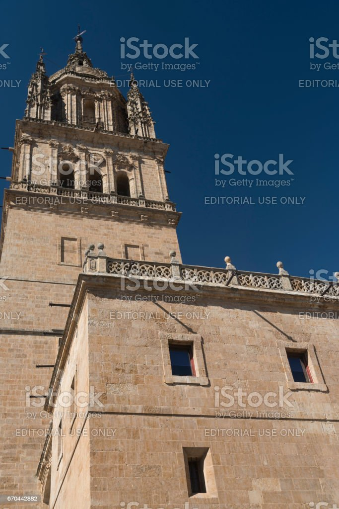 Salamanca (Spain): historic cathedral stock photo