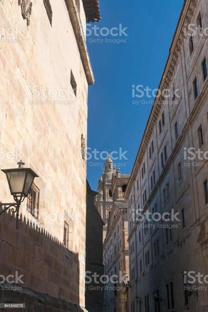 Salamanca (Spain): historic Clerecia church stock photo