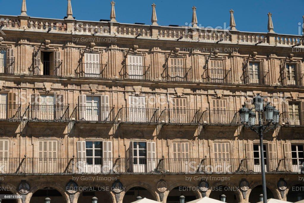 Salamanca (Spain): historic Plaza Mayor stock photo
