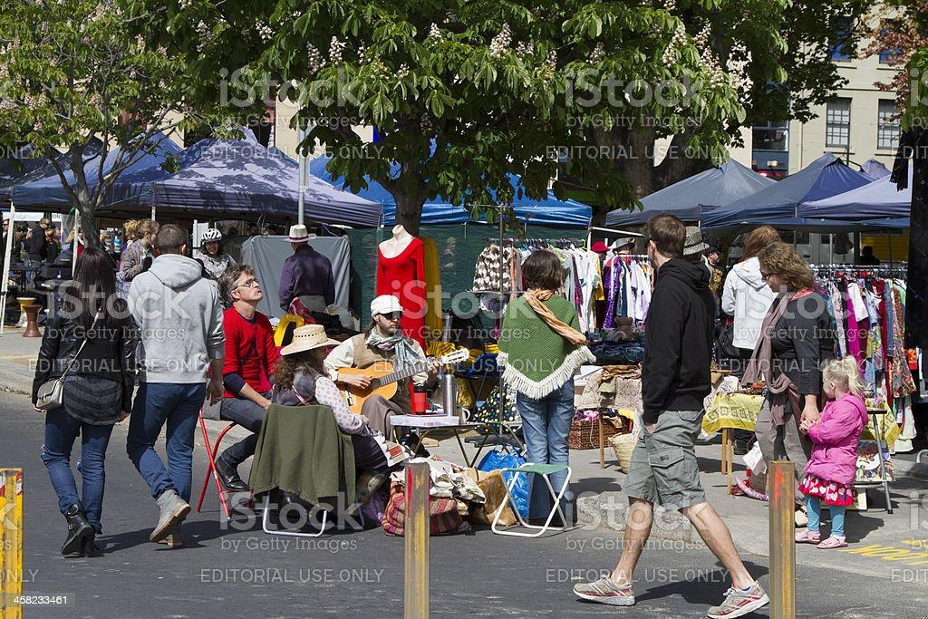Salamanca Markets stock photo