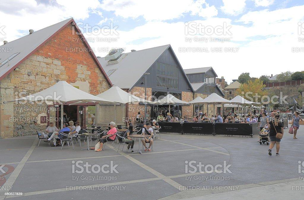 Salamanca Place Hobart Australia stock photo