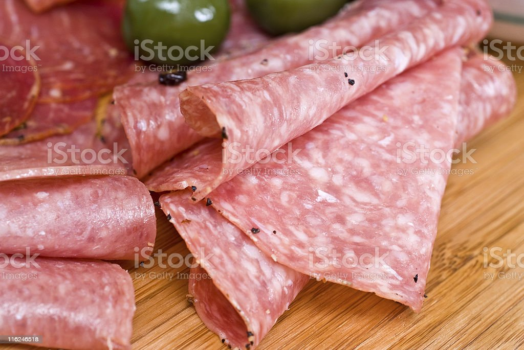 Salami close up royalty-free stock photo