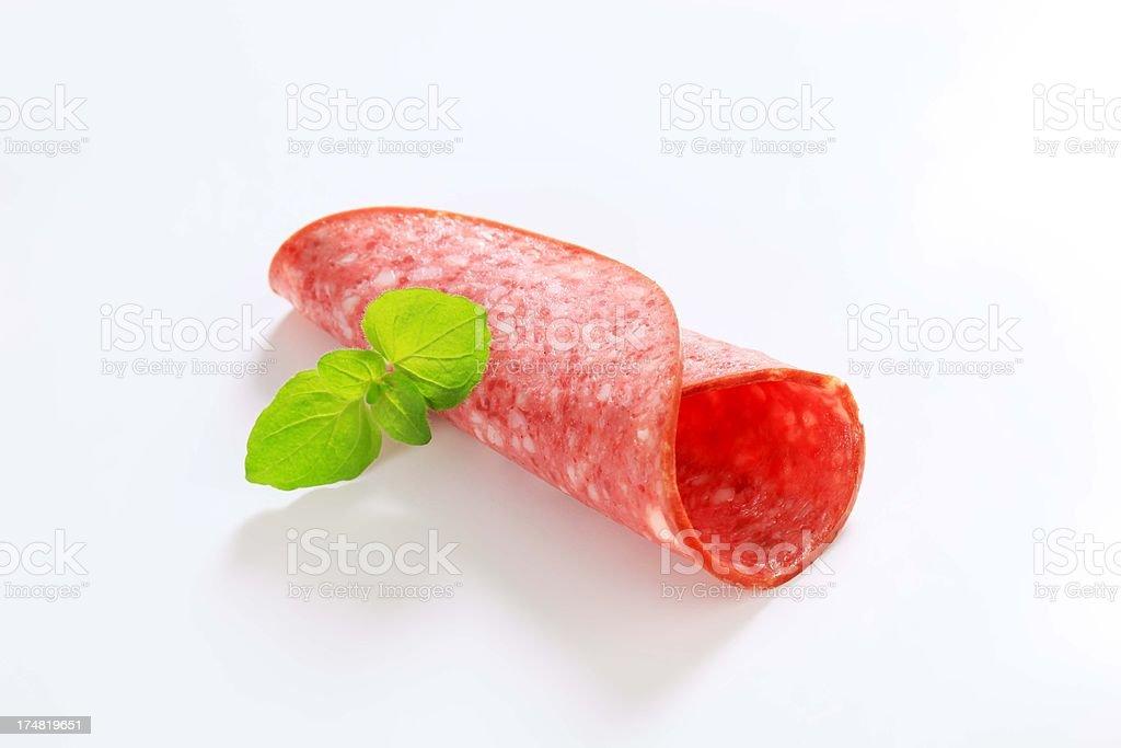 salami roll royalty-free stock photo