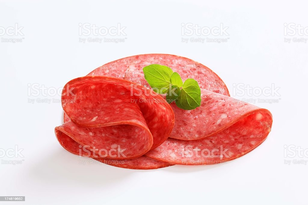 salami slices royalty-free stock photo