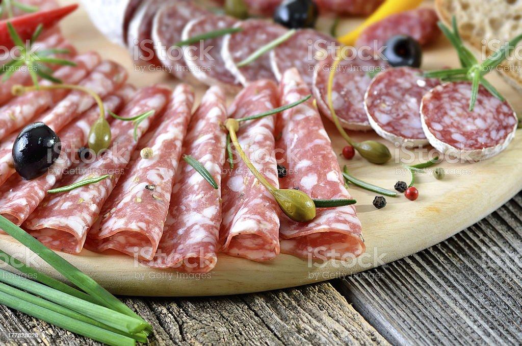 Salami snack royalty-free stock photo