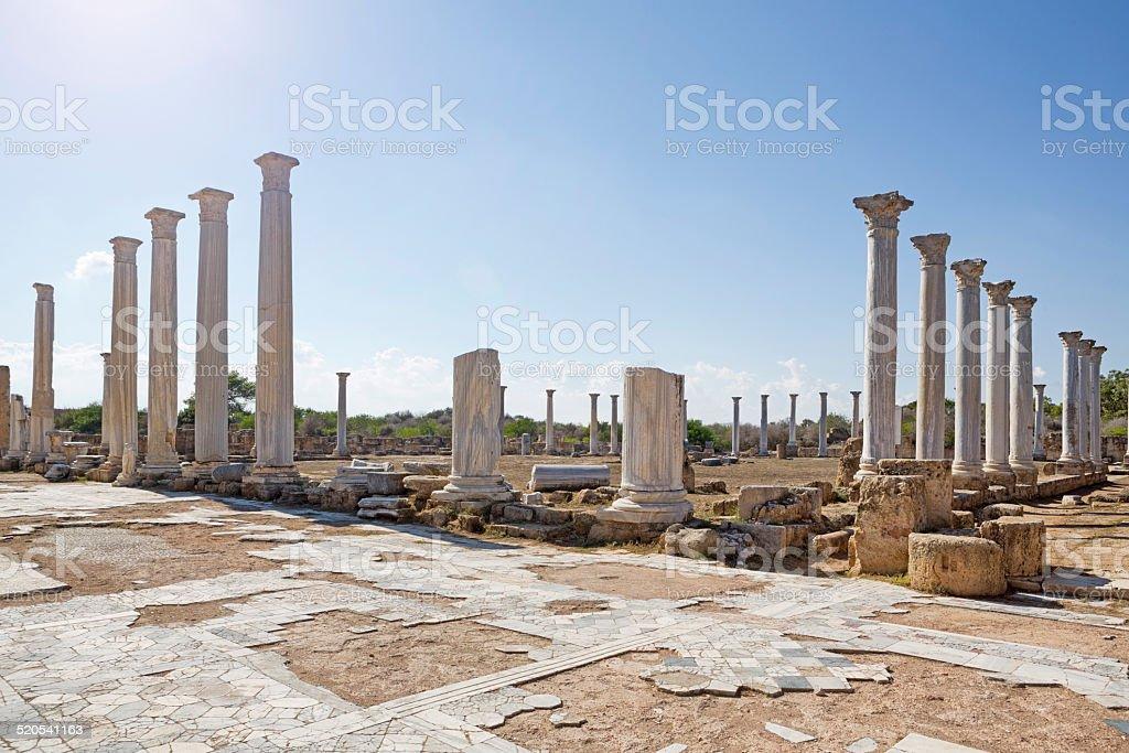 Salamis Ruins, Cyprus stock photo