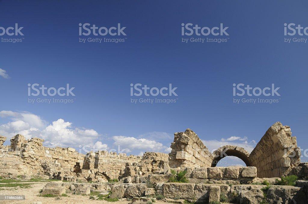 Salamis Ruins stock photo