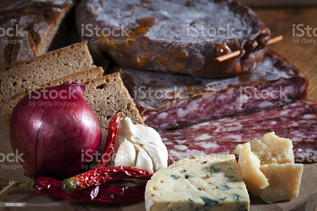 Salami-Still Life stock photo
