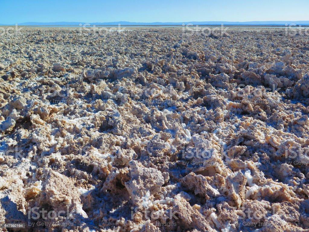 Salar de Atacama in Chile stock photo