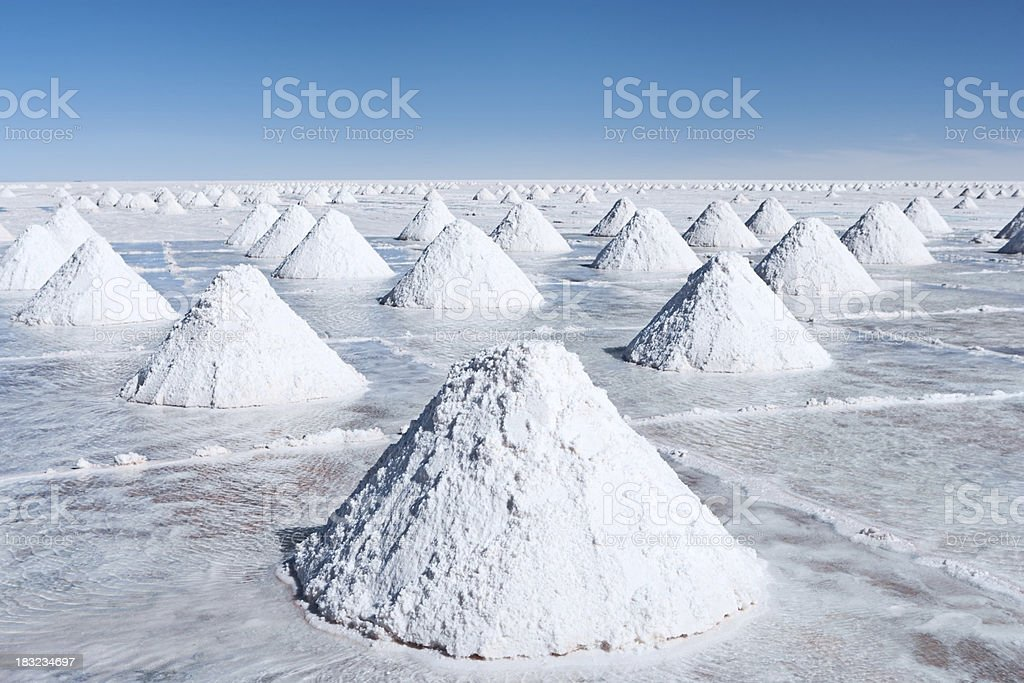 Salar de Uyuni, Altiplano Bolivia stock photo
