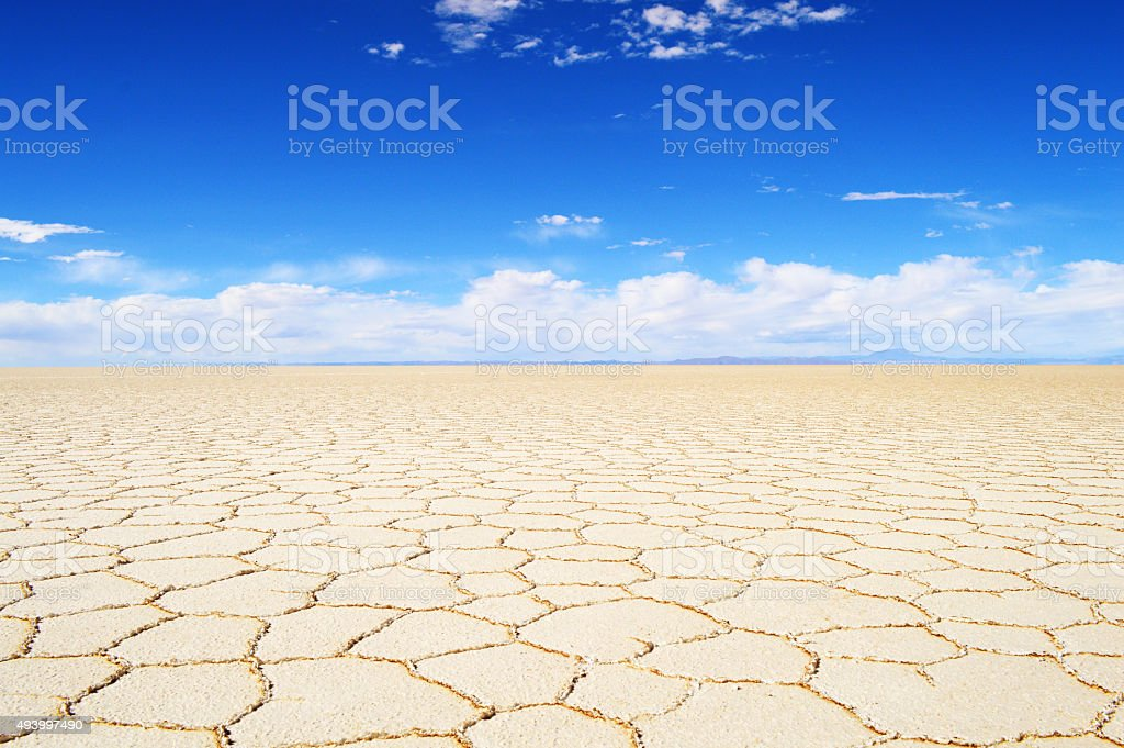 Salar De Uyuni Amazing Landscape in Bolivia stock photo