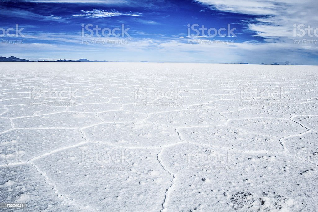 Salar de Uyuni (Salt Flat), Bolivia stock photo