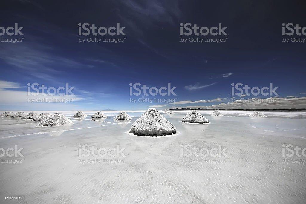 Salar de Uyuni Bolivia royalty-free stock photo