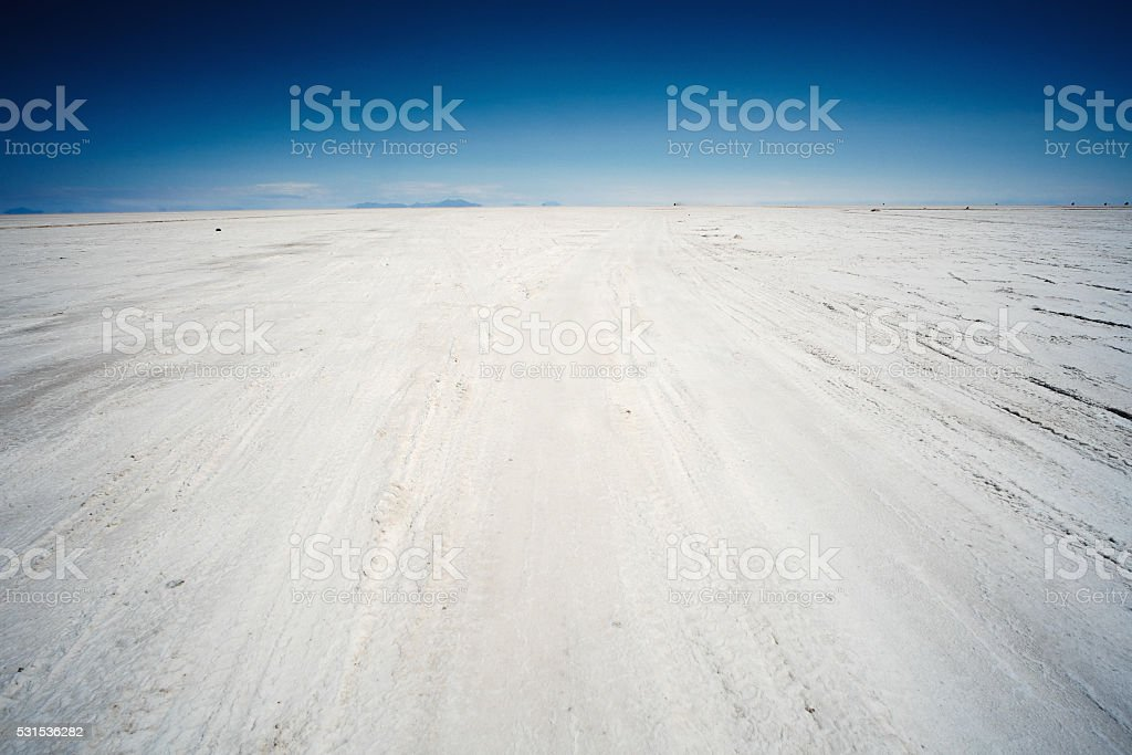 Salar de Uyuni in the Andes stock photo