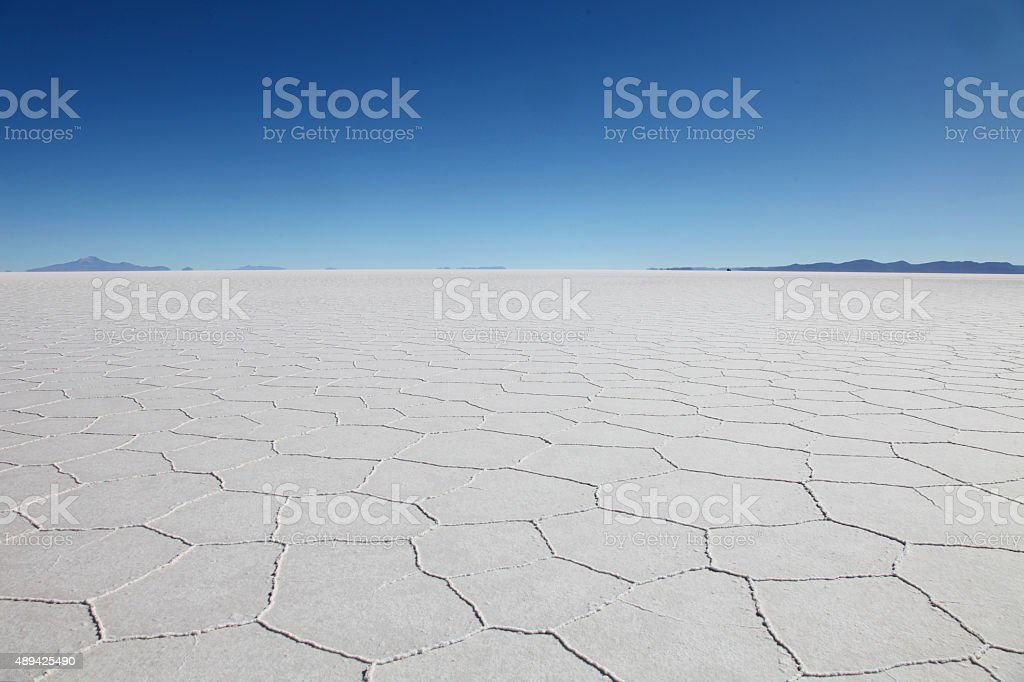 Salar de Uyuni (Salt Flat) stock photo