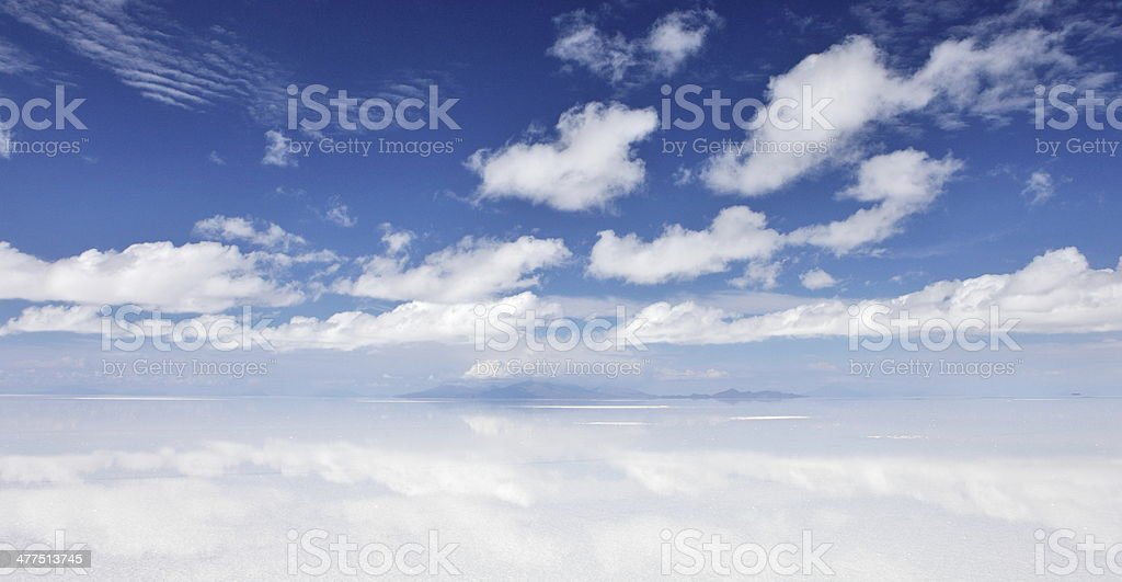 Salar de Uyuni, Salt flat in Bolivia stock photo