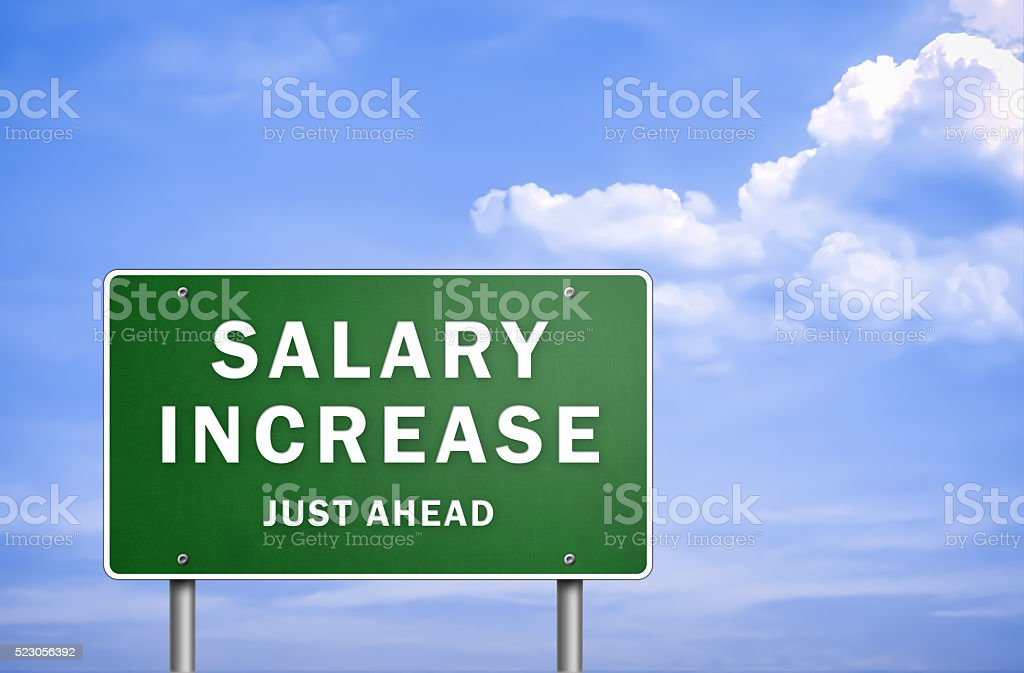 Salary increase - just ahead stock photo