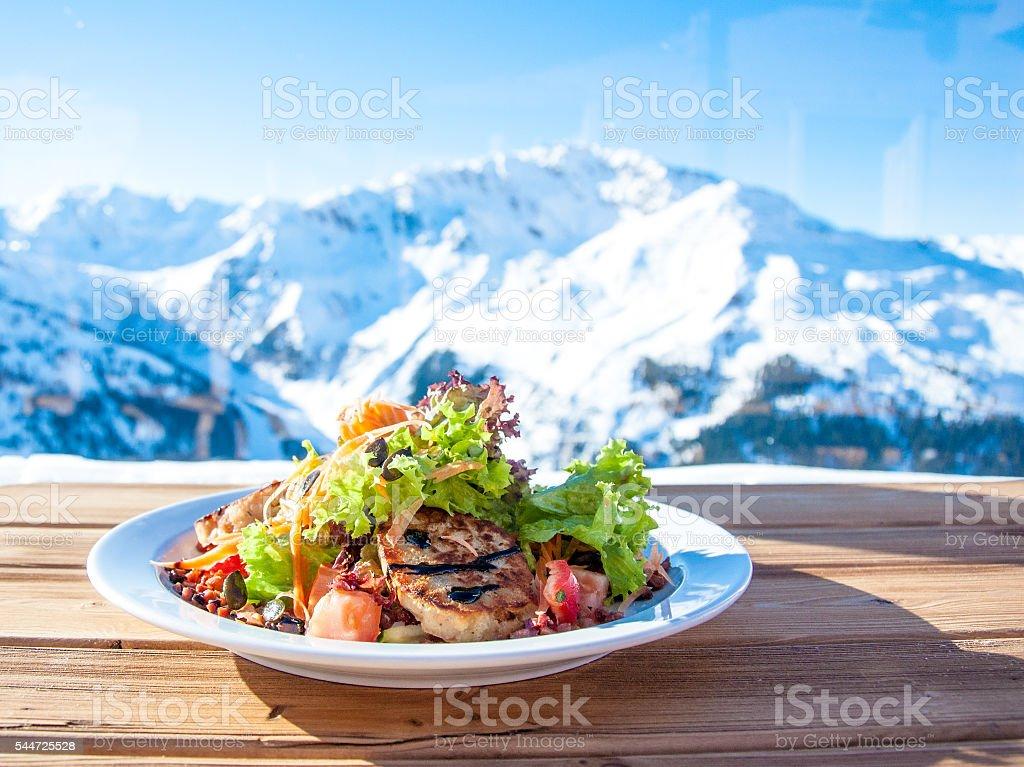 Salat mit Panorama stock photo