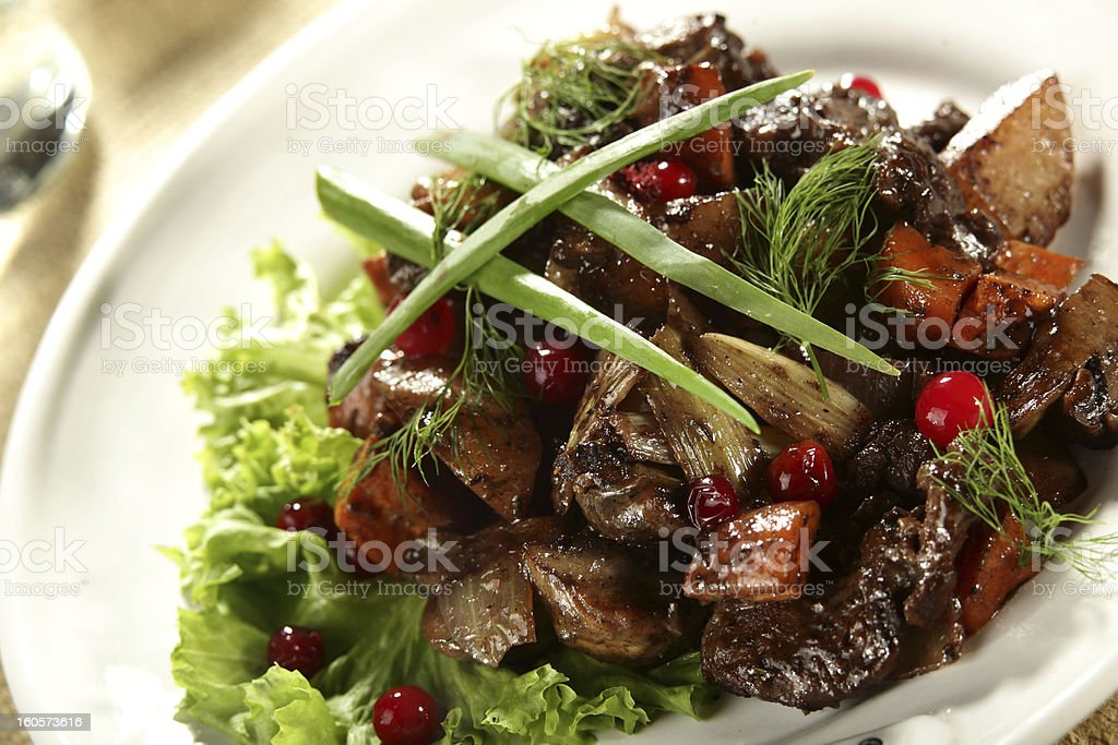 salat with meat royalty-free stock photo