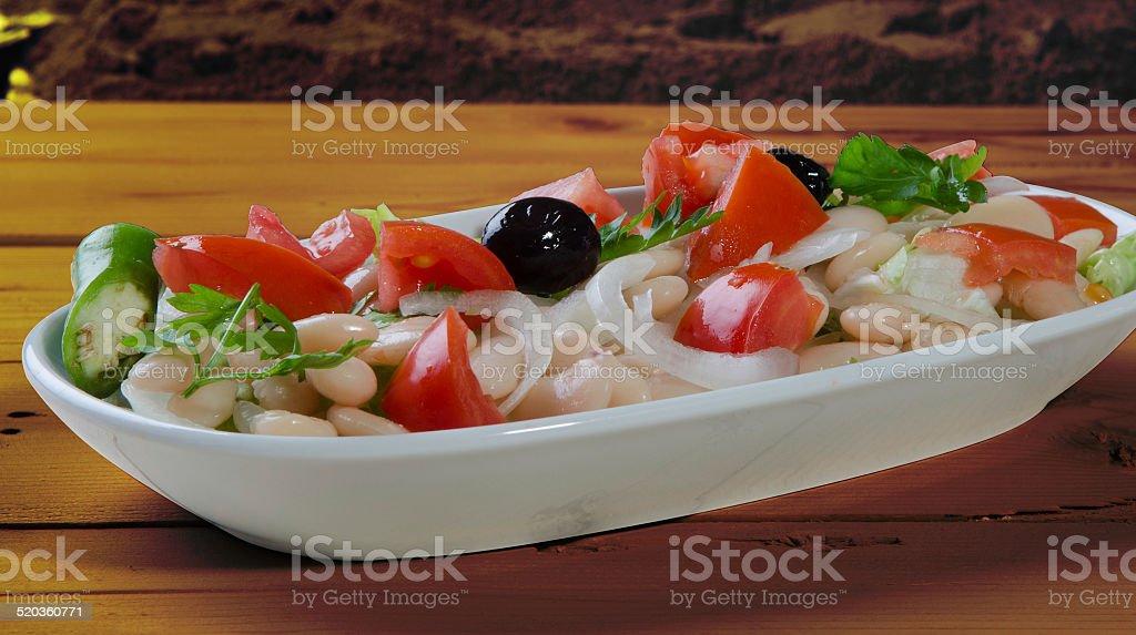 salata, piyaz, mevsim, kayık, tabak stock photo