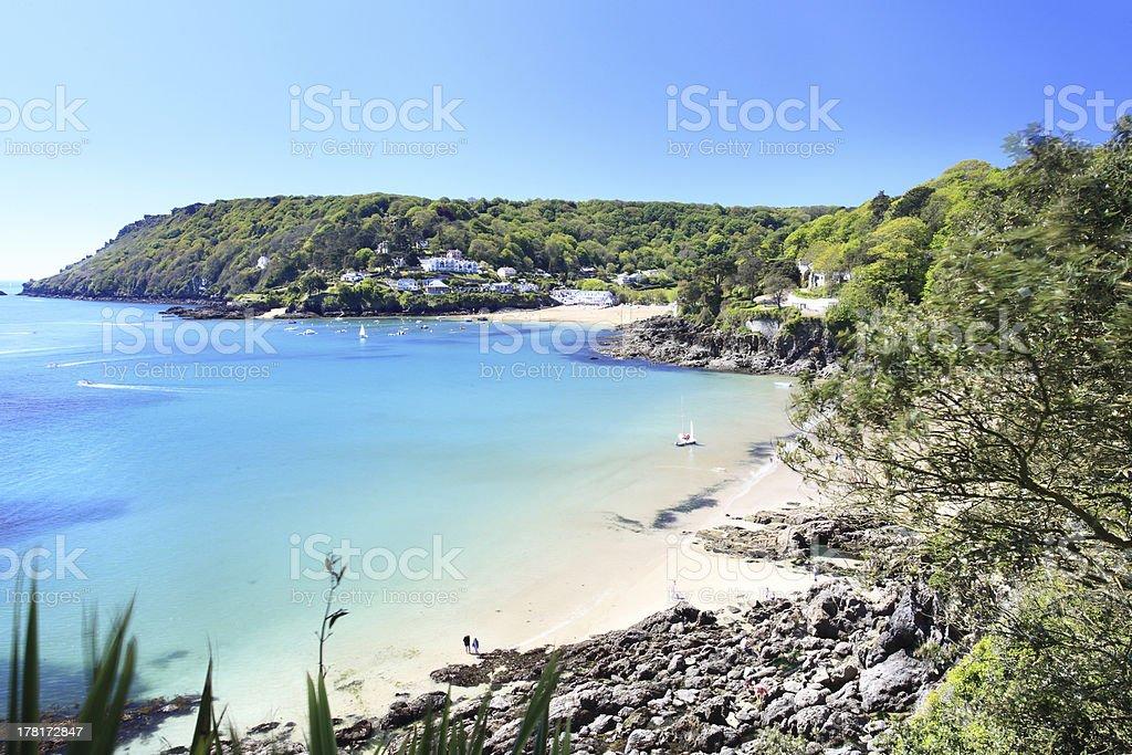 Salcombe Beach Devon England stock photo