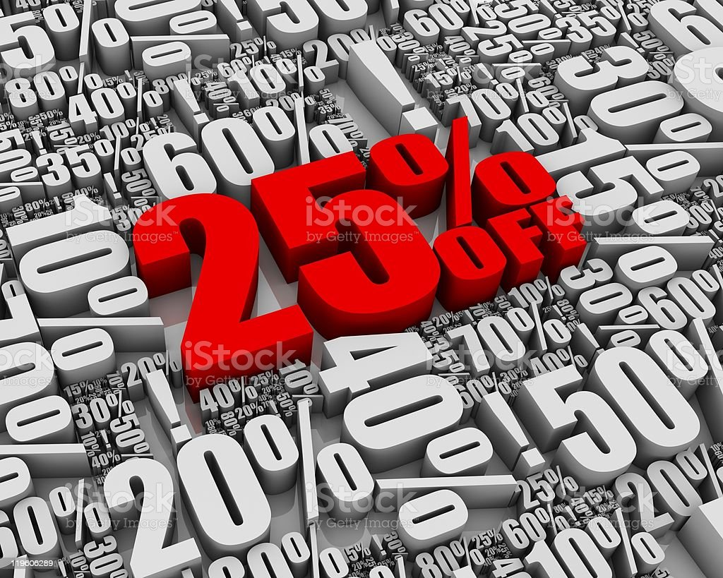 Sale 25% Off! royalty-free stock photo