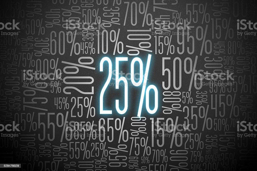 Sale 25% stock photo