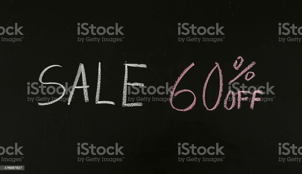 sale 60% off stock photo