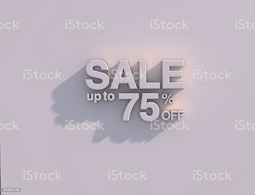 Sale 75% off stock photo