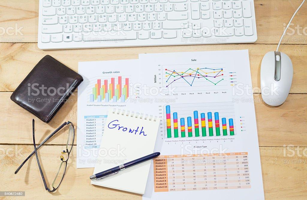 Sale analysis report show result success charts and graphs background Стоковые фото Стоковая фотография