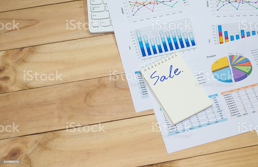 Sale analysis report show result success charts and graphs background Стоковые фото Стоковая фотография
